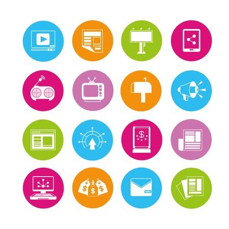 Ilustración de advertising icons - Imagen libre de derechos