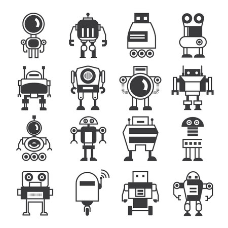 Photo for robot icons - Royalty Free Image