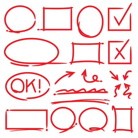 Illustration pour arrows and highlighting elements, check marks - image libre de droit