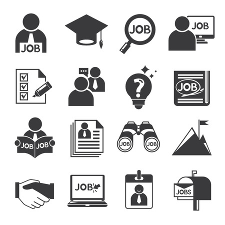Illustration pour human resource icons, job icons - image libre de droit