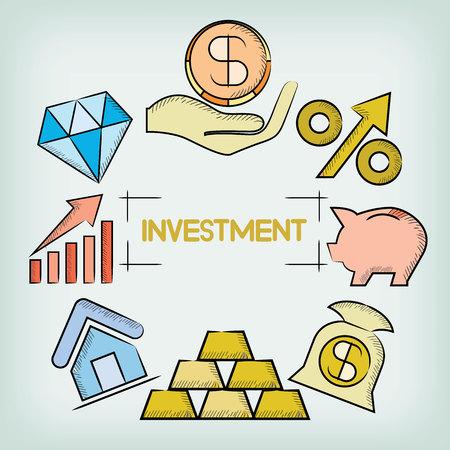 Ilustración de investment concept - Imagen libre de derechos