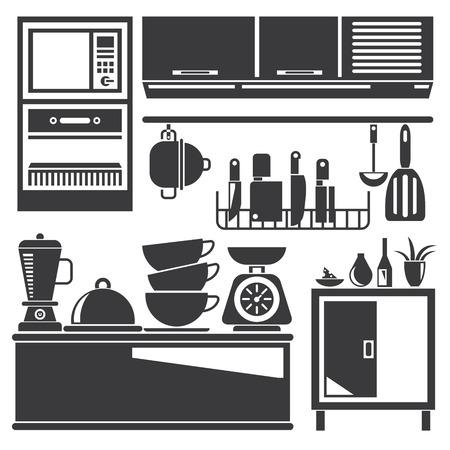Illustration pour kitchen appliances - image libre de droit