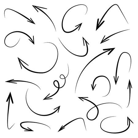 Ilustración de hand drawn arrows - Imagen libre de derechos