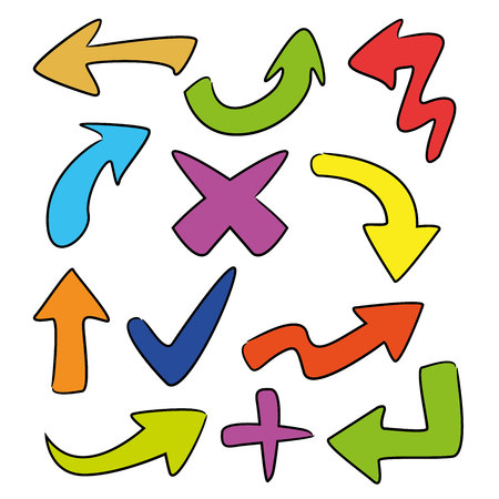 Illustration pour arrows - image libre de droit