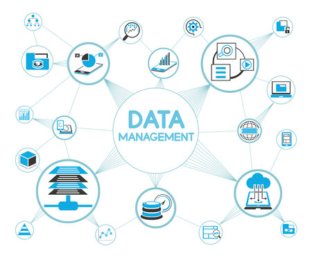 Illustration pour data management concept - image libre de droit
