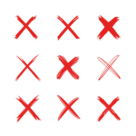 Illustration pour red wrong marks - image libre de droit