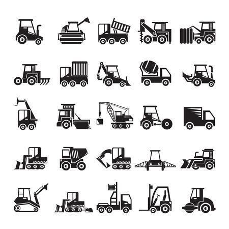 Illustration pour construction and mining equipment icons - image libre de droit