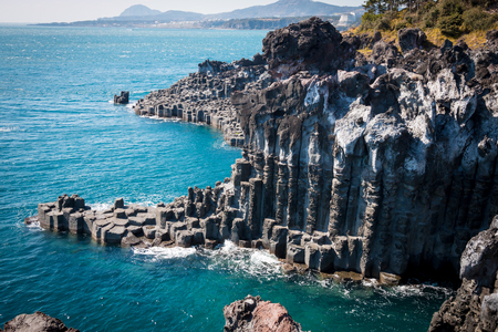 Photo for Jungmun Daepo Coast & Jusangjeolli Cliff - Royalty Free Image