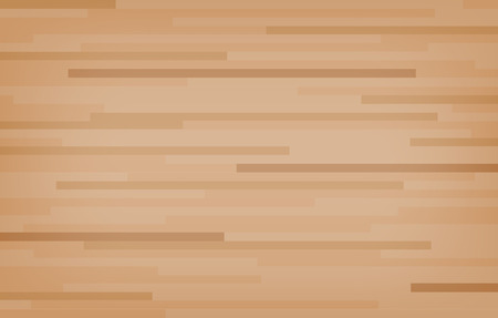 Illustration pour Hardwood maple basketball court floor viewed from above. Wooden floor pattern and texture. Vector illustration. - image libre de droit