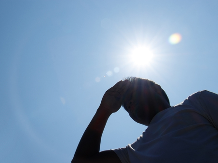 Photo for Young man and heat stroke. - Royalty Free Image
