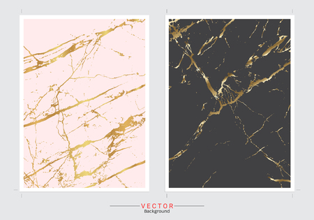 Ilustración de Gold Marble Imitation cover background vector set, Modern and luxury design template for your design a stunning wedding, invitation, greeting cards, web, banner, pattern, and wallpaper. - Imagen libre de derechos