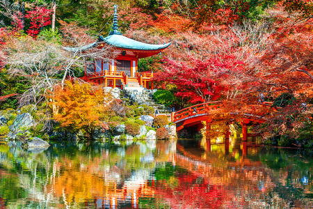Photo pour Daigoji temple in autumn, Kyoto. Japan autumn seasons. - image libre de droit