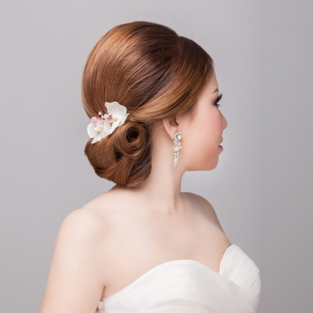 Foto de bridal   hair style  - Imagen libre de derechos