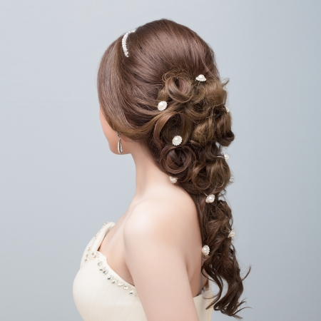 Photo pour bridal   hair style  - image libre de droit