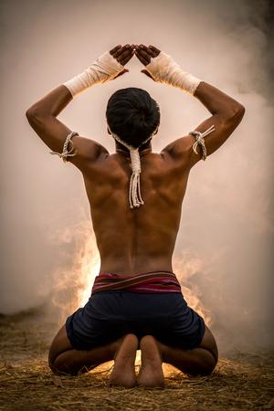 Photo for Martial arts of Muay Thai,Thai Boxing, Muay Thai - Royalty Free Image