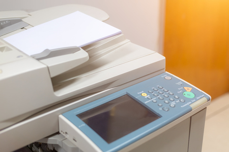 Photo pour close up on copier in the office for business people workplace - image libre de droit