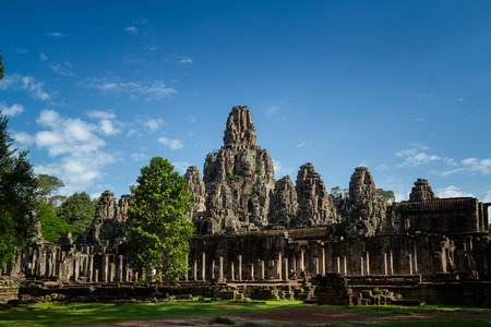 Photo for Bayon temple in Angkor Thom, landmark in Angkor Wat, Siem reap in Cambodia. - Royalty Free Image