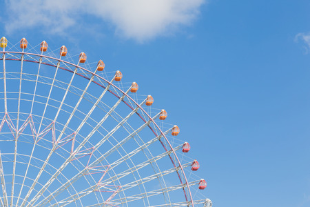 Photo for Path of big amusement ferris wheel with blue sky background - Royalty Free Image