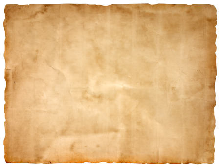 Foto de sheet of old paper isolated on a white background - Imagen libre de derechos
