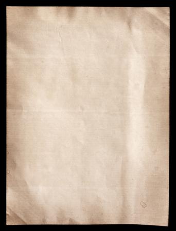 Foto de Old brown paper texture on black - Imagen libre de derechos