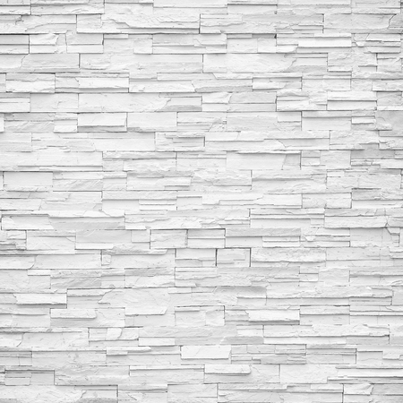 Photo for pattern of decorative white slate stone wall surface - Royalty Free Image
