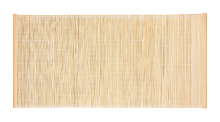 Foto de bamboo blind frame isolated on white background - Imagen libre de derechos