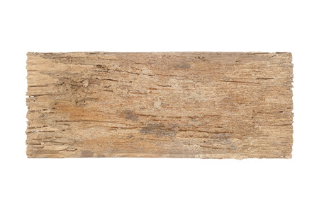 Foto de Old wood, decay  isolated on white eith clipping path - Imagen libre de derechos