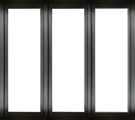 Photo pour Black metal window frame - image libre de droit