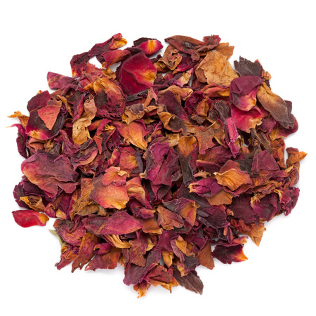 Photo for Dried Organic Damask Rose petals. - Royalty Free Image