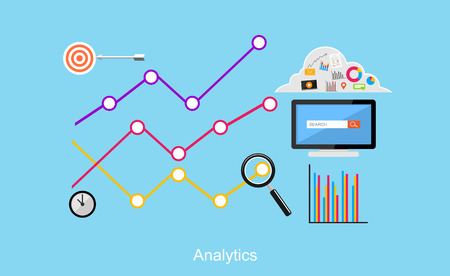 Illustration pour Analytics illustration. Flat design illustration concepts for business, business statistics, brainstorming, monitoring trend. - image libre de droit
