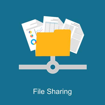 Ilustración de File sharing concept. - Imagen libre de derechos