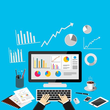 Illustration pour Business analytics concept illustration. - image libre de droit