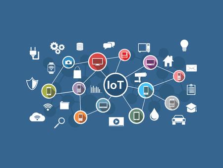 Illustration pour Internet of Things. IoT network. Internet connection concept. - image libre de droit