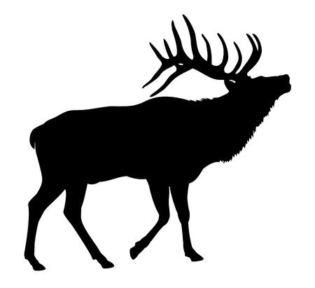 Ilustración de Elk Deer Silhouette - Imagen libre de derechos