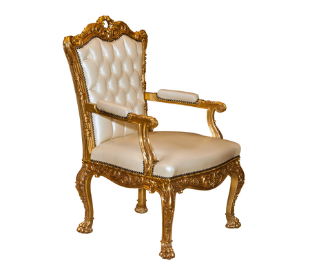 Photo for Luxury golden leather chair - Royalty Free Image