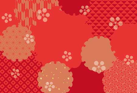 Ilustración de Japanese classic pattern vector background. - Imagen libre de derechos