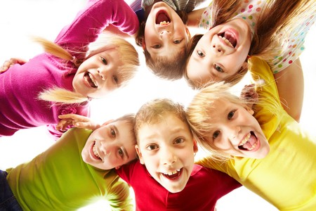 Foto per Image of happy kids representing youth and fun - Immagine Royalty Free