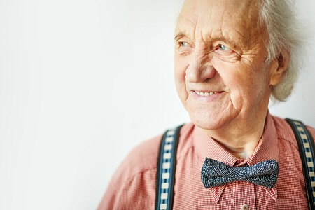 Photo for Senior well-dressed man looking aside - Royalty Free Image