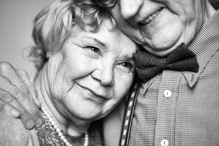 Photo for Affectionate senior woman close to her husband - Royalty Free Image