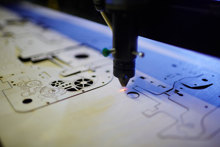 Photo for Laser Cutting Machine in Workshop - Royalty Free Image
