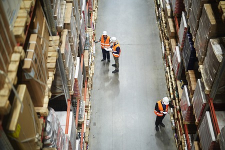 Photo for Warehouse Workers Stocktaking - Royalty Free Image
