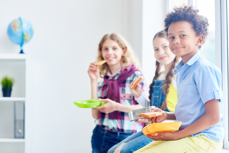 Foto de Lunch at school - Imagen libre de derechos