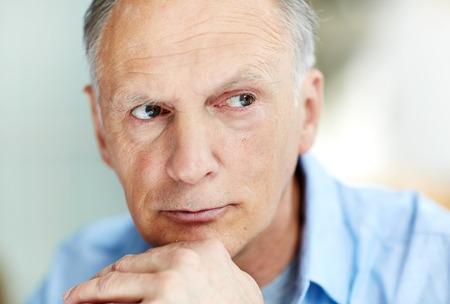 Photo pour Portrait of Pensive Senior Man - image libre de droit