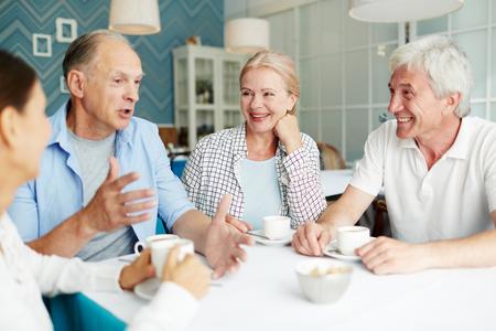 Photo for Talking seniors - Royalty Free Image