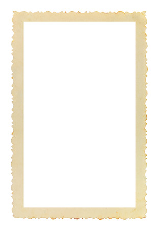 Photo pour Vintage photo frame with figured edges, on white background - image libre de droit