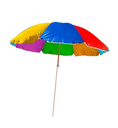 Foto de beach umbrella isolated on a white background - Imagen libre de derechos