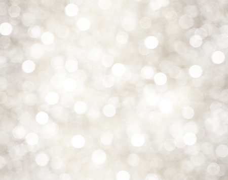 Decorative christmas background with bokeh lights and snowflakes