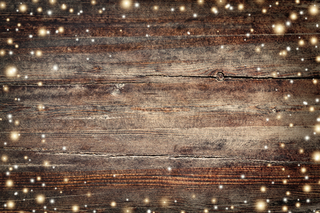 Foto de Vintage Christmas background with golden snowflakes and stars - Imagen libre de derechos
