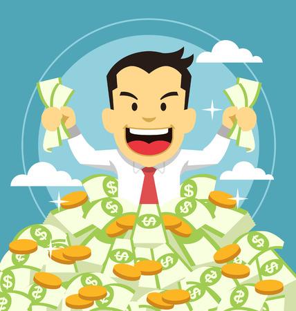 Ilustración de Businessman and money - Imagen libre de derechos