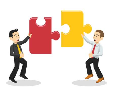 Ilustración de Vector team work illustration - Imagen libre de derechos